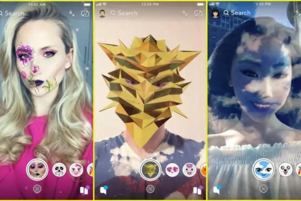 Filtros en Snapchat