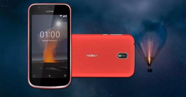 Nokia 1 en color rojo