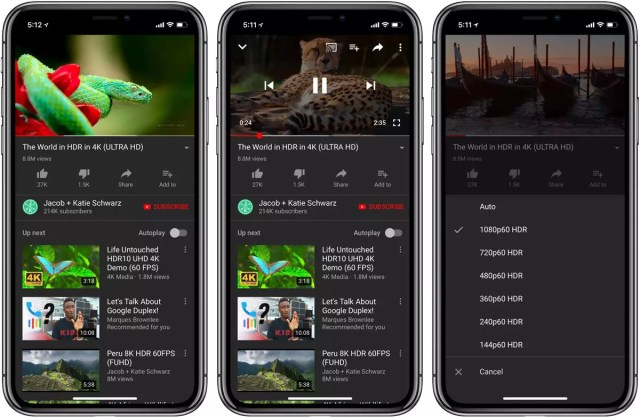 Interfaz de YouTube en la pantalla de un <stro data-recalc-dims=