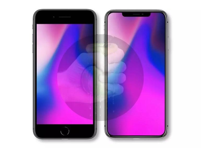Dimensiones del iPhone X Plus frente al iPhone 8 Plus