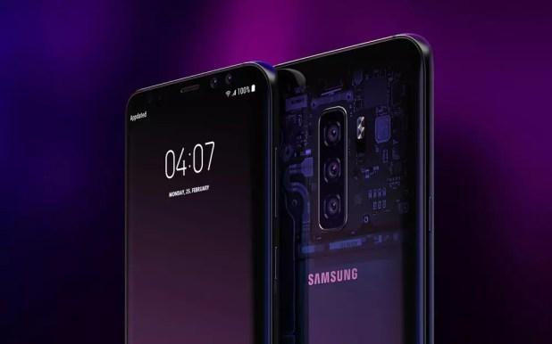 Diseño conceptual del Samsung Galaxy S10