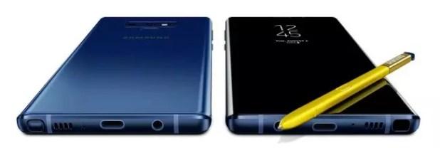 Note 9 azul con Spen