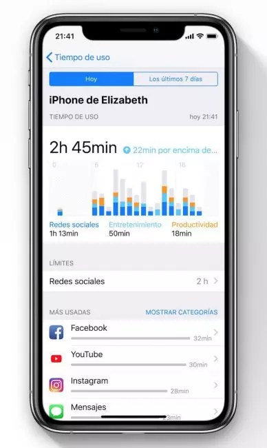 control de apps en ios 12