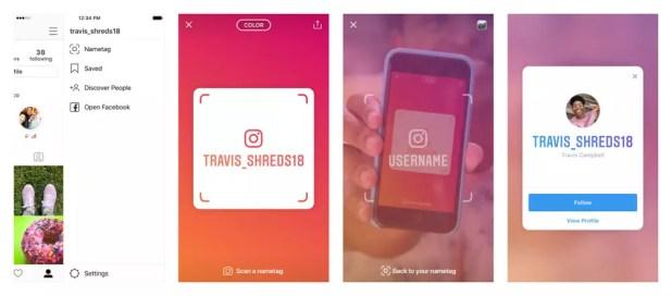 Función de Nametag en Instagram
