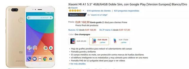 Oferta del Xiaomi℗ Mi A1 en Amazon