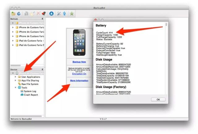 Interfaz de iBackupBot