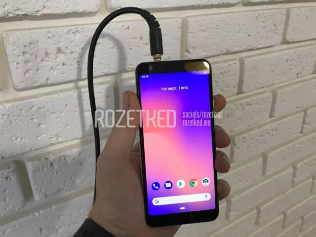 Google Pixel 3 Lite con toma de audífonos mini jack
