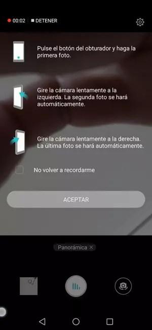 Honor 8X. Modo selfie panorámico