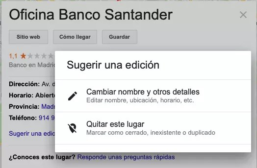 banco google maps