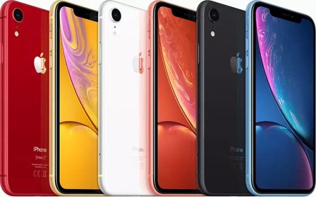 Colores disponibles para el iPhone XR