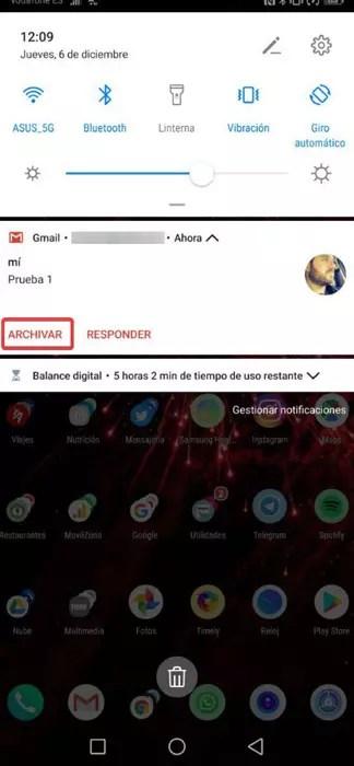 Opción por defecto de archivar correo en Gmail