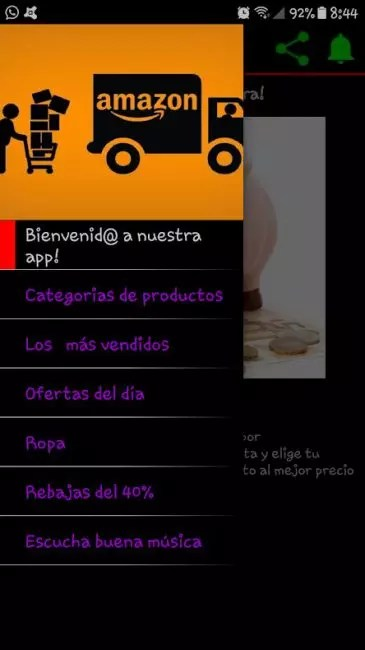 Amazon rebajas App Android
