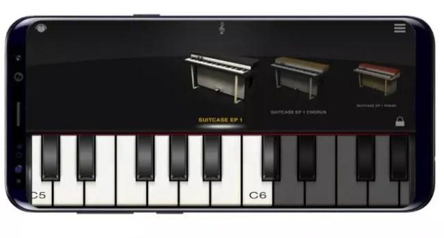 Interfaz de iLectric Piano