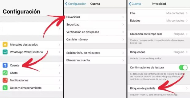 iPhone bloqueo WhatsApp