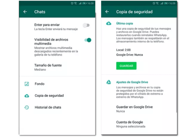 pantallazos Whatsapp