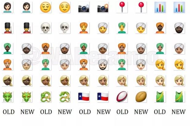 Aspecto nuevos emojis en WhatsApp