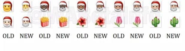 Nuevo diseño emojis navidad en WhatsApp para Android