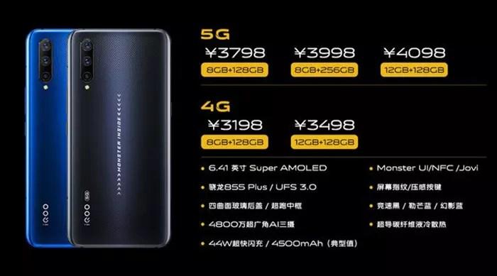 Imagen filtradas con las características del Vivo IQOO Pro 5G