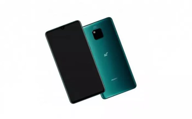 Frontal y trasera del Huawei Mate 20X 5G