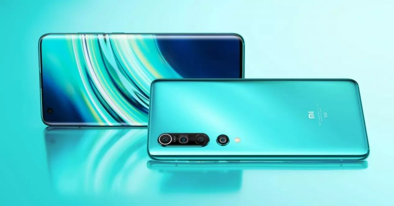 Xiaomi Mi 10 green background