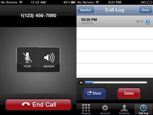 call-log iPhone