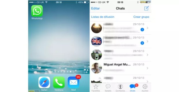 whatsapp ios 7 1