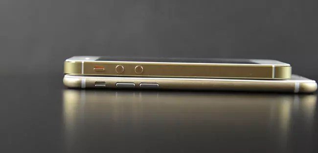Grosor de iPhone 6 y iPhone 5s