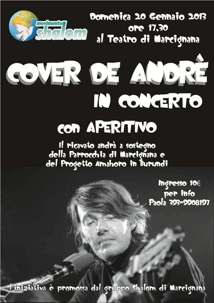 Marcignana: cover De Andrè