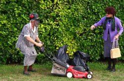 mulching sfalcio erba verde