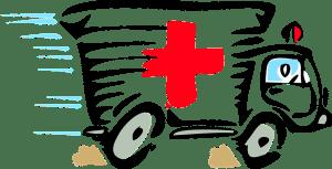 A sketch of an ambulance vehicle.