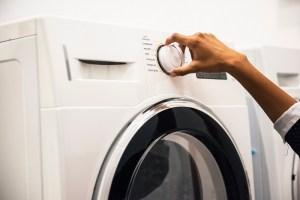 hand turning knob on washing machine