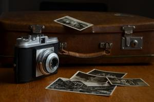 a camera and some photographs