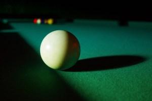 felt on a pool table