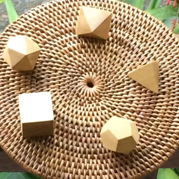 Sólidos platónicos de madera