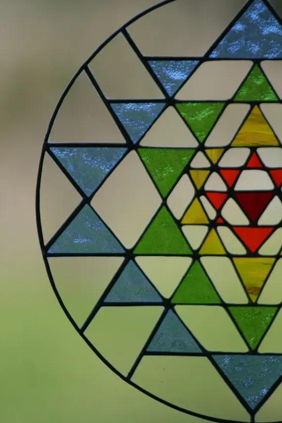 vidriera de sri yantra