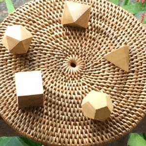 solidos platonicos de madera