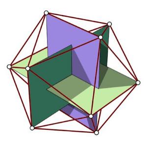 icosaedro proporcion aurea