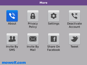 واخيرا برنامج المكالمات المجانيه Viber لاجهزة البلاك بيري