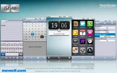 ثيم الايفون لاجهزة نوكيا سمبيان 3 وانا وبيلي