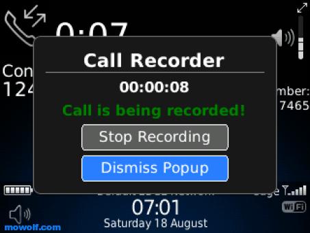 افضل برامج تسجيل المكالمات للبلاك بيري 2013