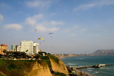 Peru, Lima coastal view