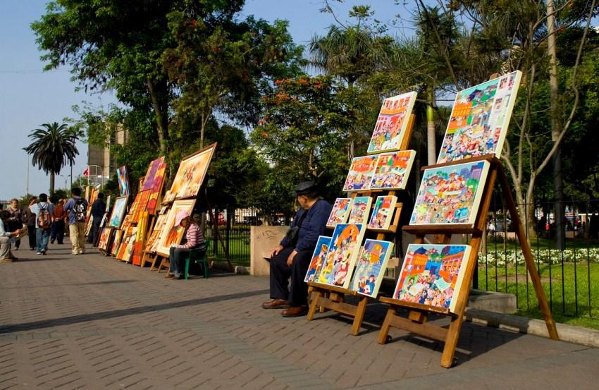 Lima market art