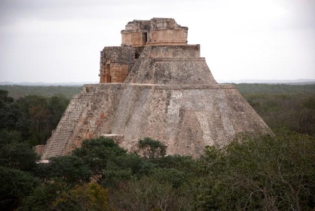 Mexico Yucatan ruins landscape