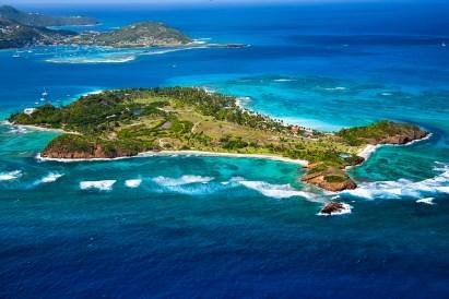 Palm Island aerial shot