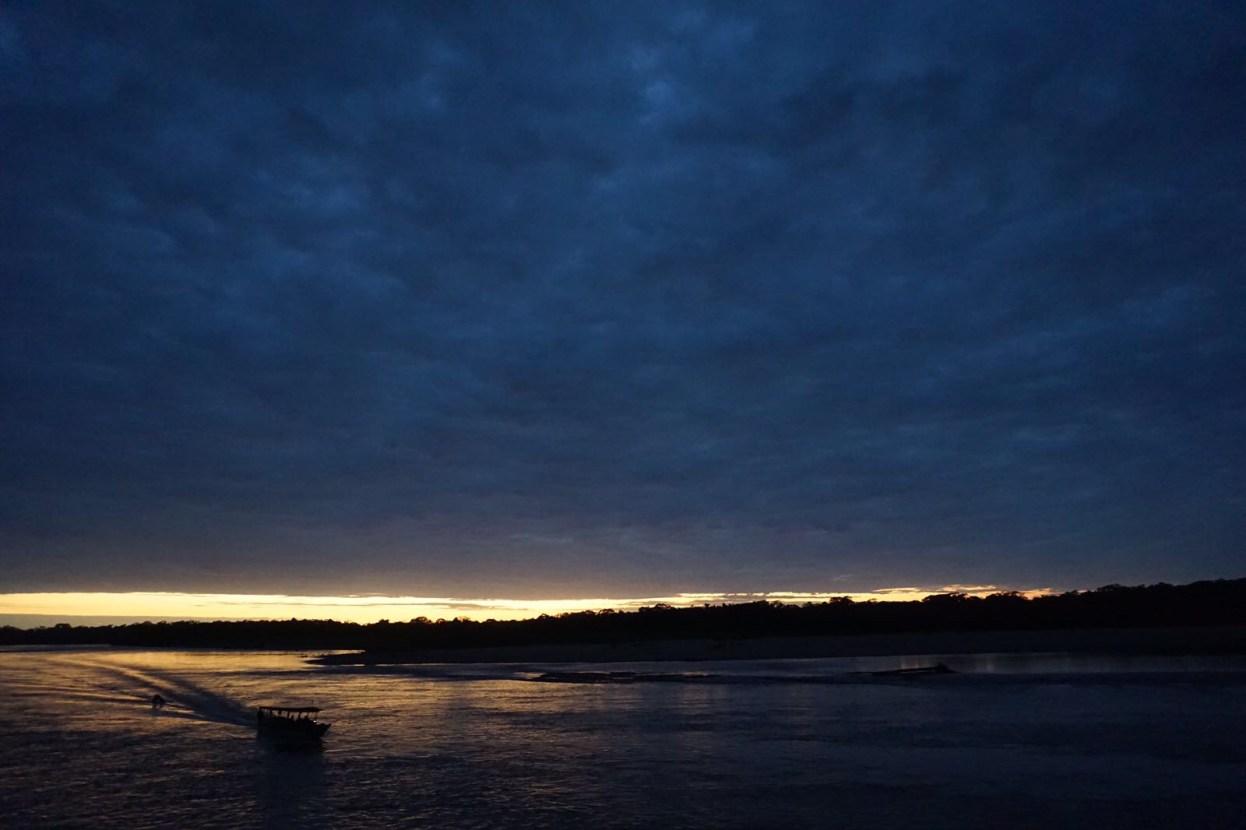Sunrise Boat Tambopata Amazon