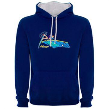 Sudadera Azul Royal Hombre windsurfing