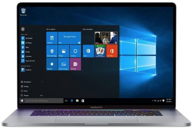 MacBook Pro Retina 16 pouces sous Windows