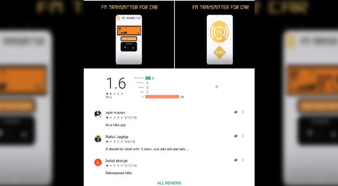 Bewertungen zu 100% Pro Car FM Transmitter bei Google Play