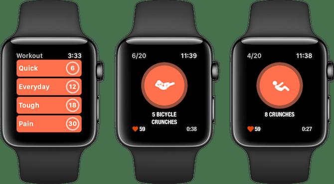 Les séances d'entraînement des applications de remise en forme d'Apple Watch