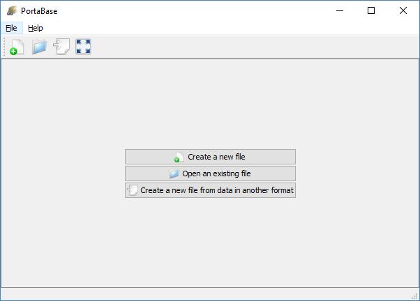 outil de base de données de portabase